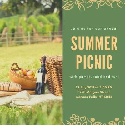 free picnic invitations templates to