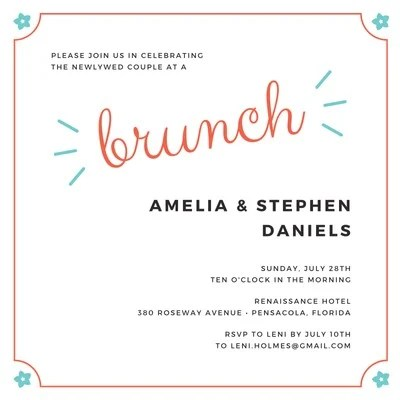 free brunch invitations templates to