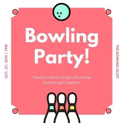 bowling invitation templates