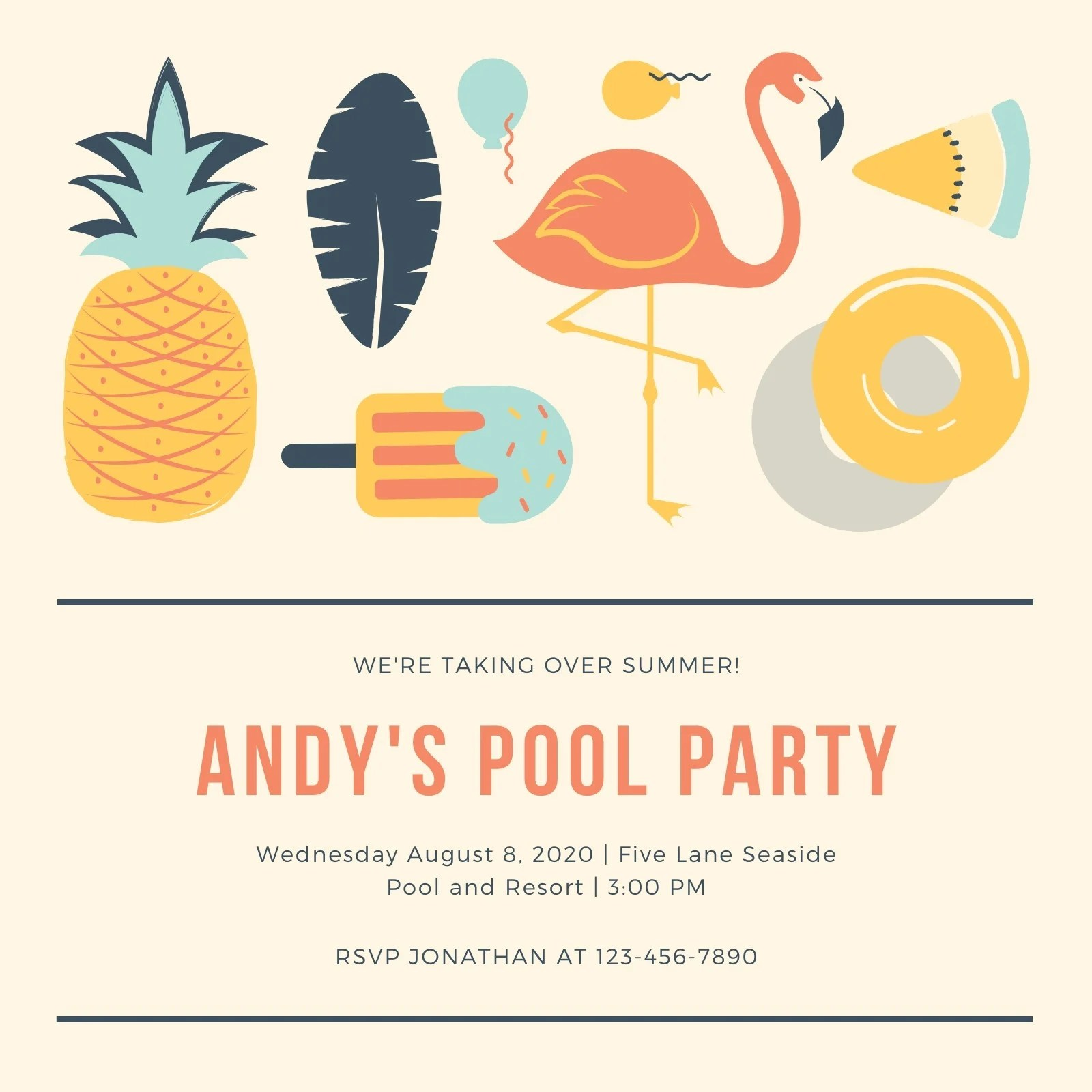 We may earn commission on some of the items you choose to buy. Free Printable Customizable Pool Party Invitation Templates Canva