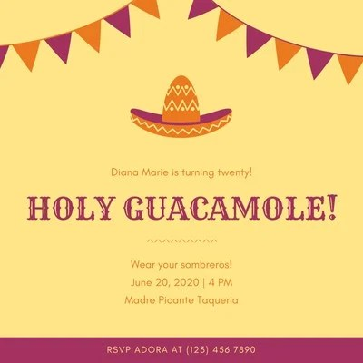 fiesta invitation templates