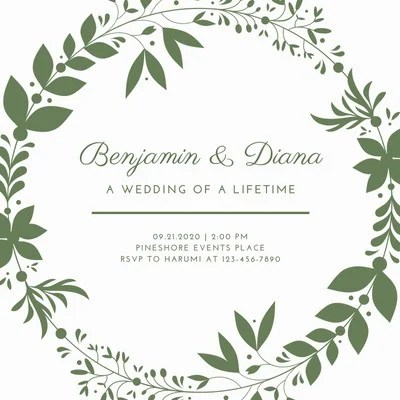 Free And Printable Custom Wedding Invitations Canva
