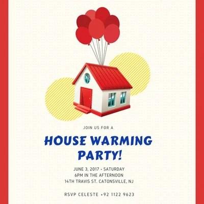 free custom printable housewarming