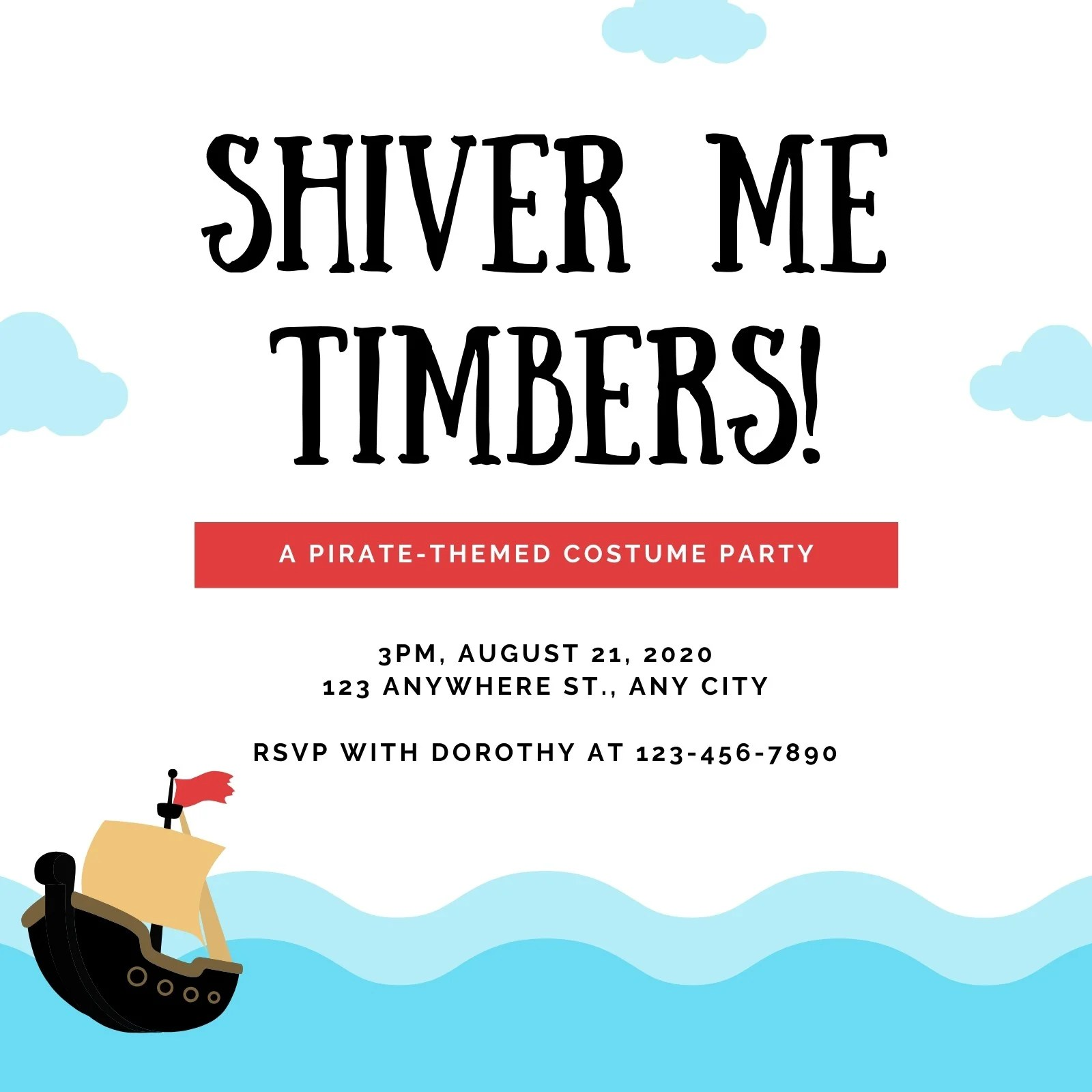 Put a fresh pirate theme to your party with a little twist on some old vintage décor like mini bar stools, barrel table and ask all of your guests to dress up like pirates, and sure you will get chance to see the most fun part of celebrating your kid's birthday with swashbuckling ideas! Customize 32 Pirate Party Invitations Templates Online Canva