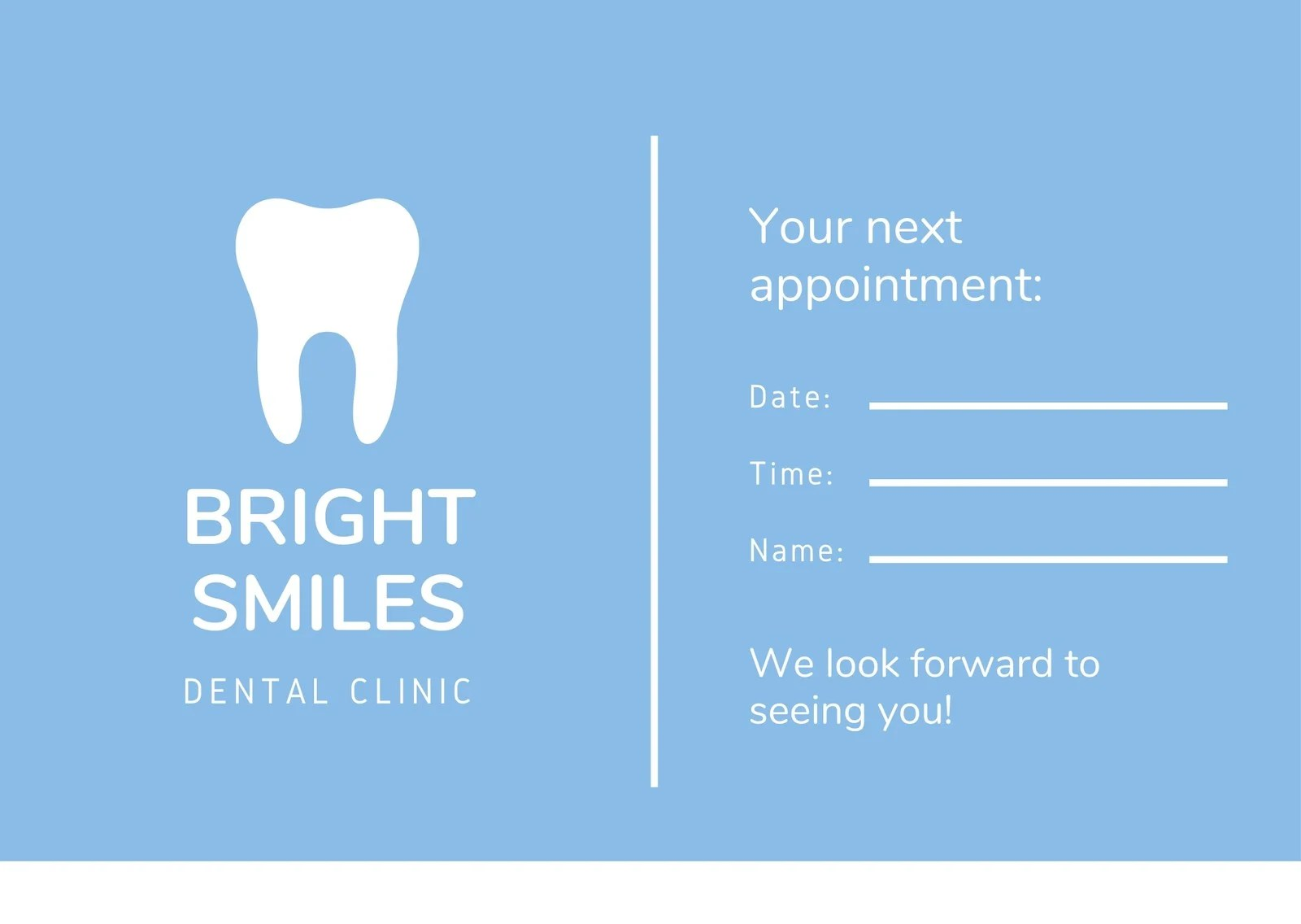 Stay connected with patients with automated dental appointment reminder text messages. Free Printable Customizable Appointment Card Templates Canva