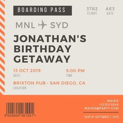 free custom printable boarding pass