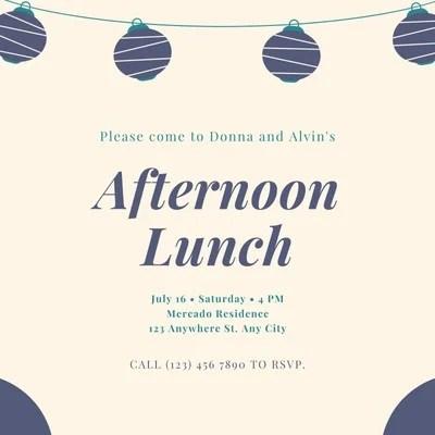 free custom printable luncheon
