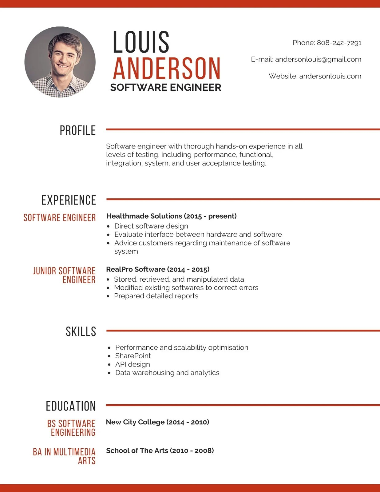 How to write a software engineer resume? Professional Software Engineer Resume Templates By Canva