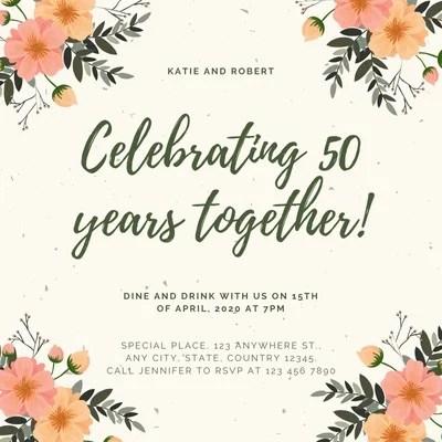 free custom printable 50th anniversary