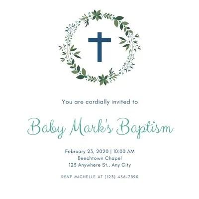 baptism invitation templates