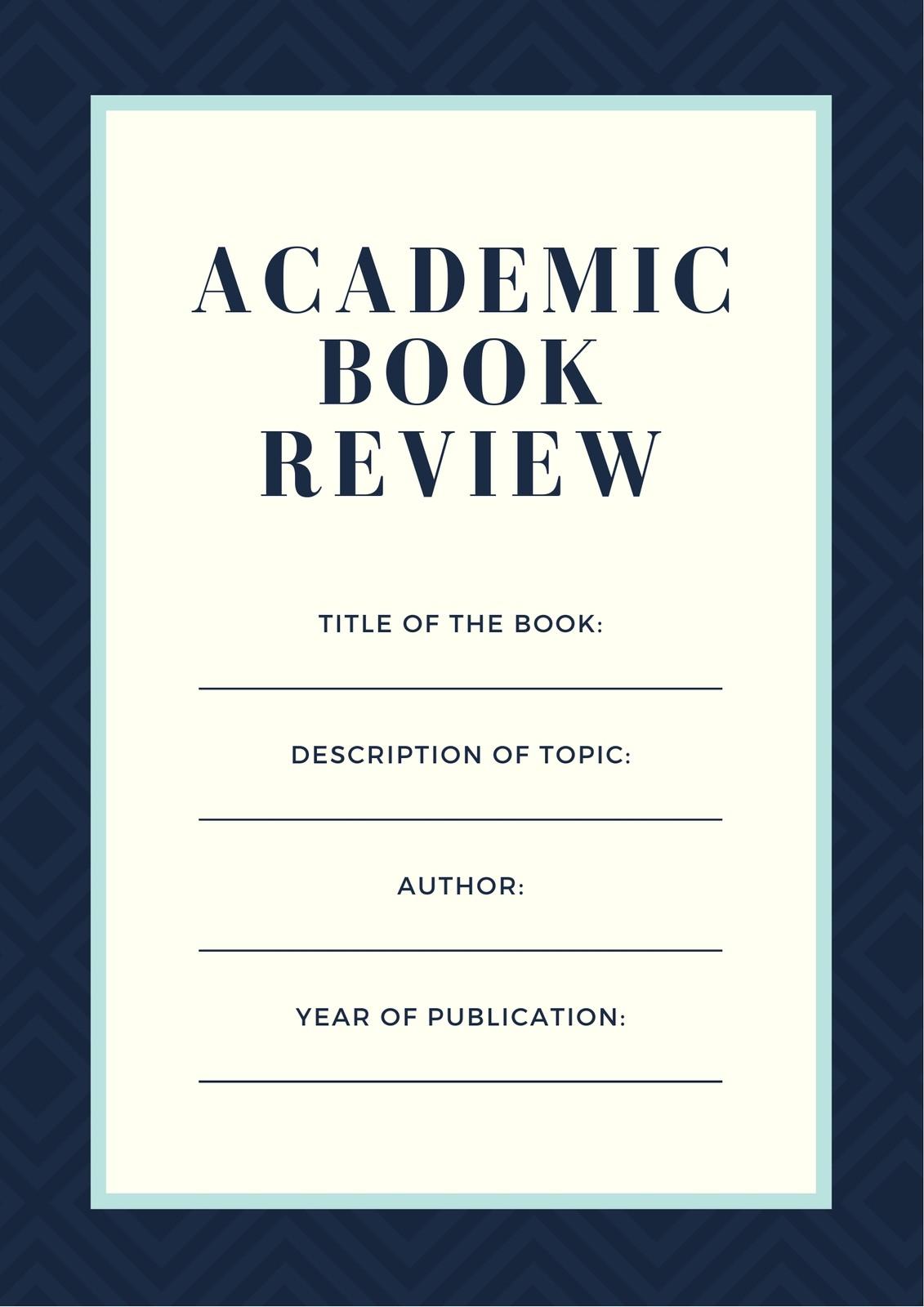 Blue Fancy Pattern College Book Review Worksheet