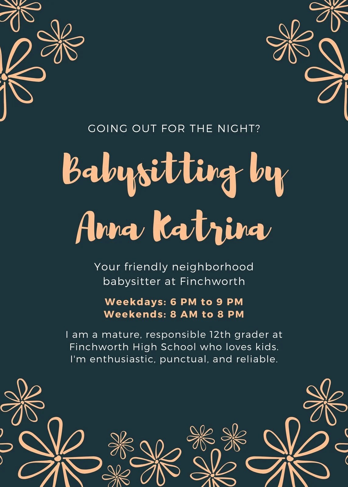 Select one of more than 1.200.000 images or upload your own image. Customize 17 Babysitting Flyers Templates Online Canva