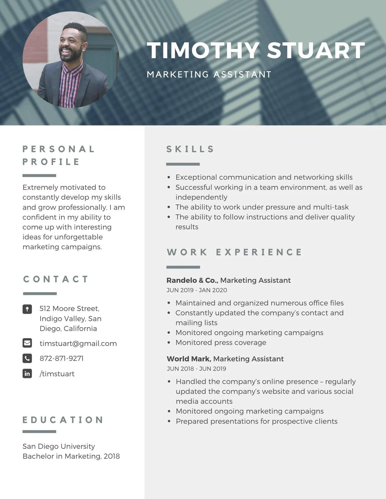 The feminine resume, a free template for microsoft word. Free Printable Customizable Minimalist Resume Templates Canva