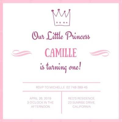 princess invitation templates