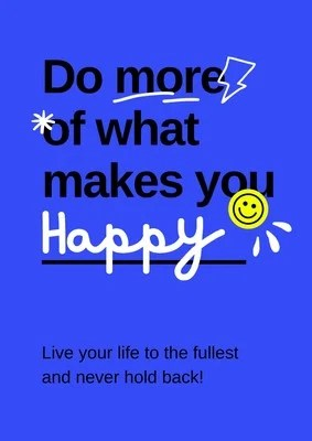 blue scribbles motivational animated quote poster