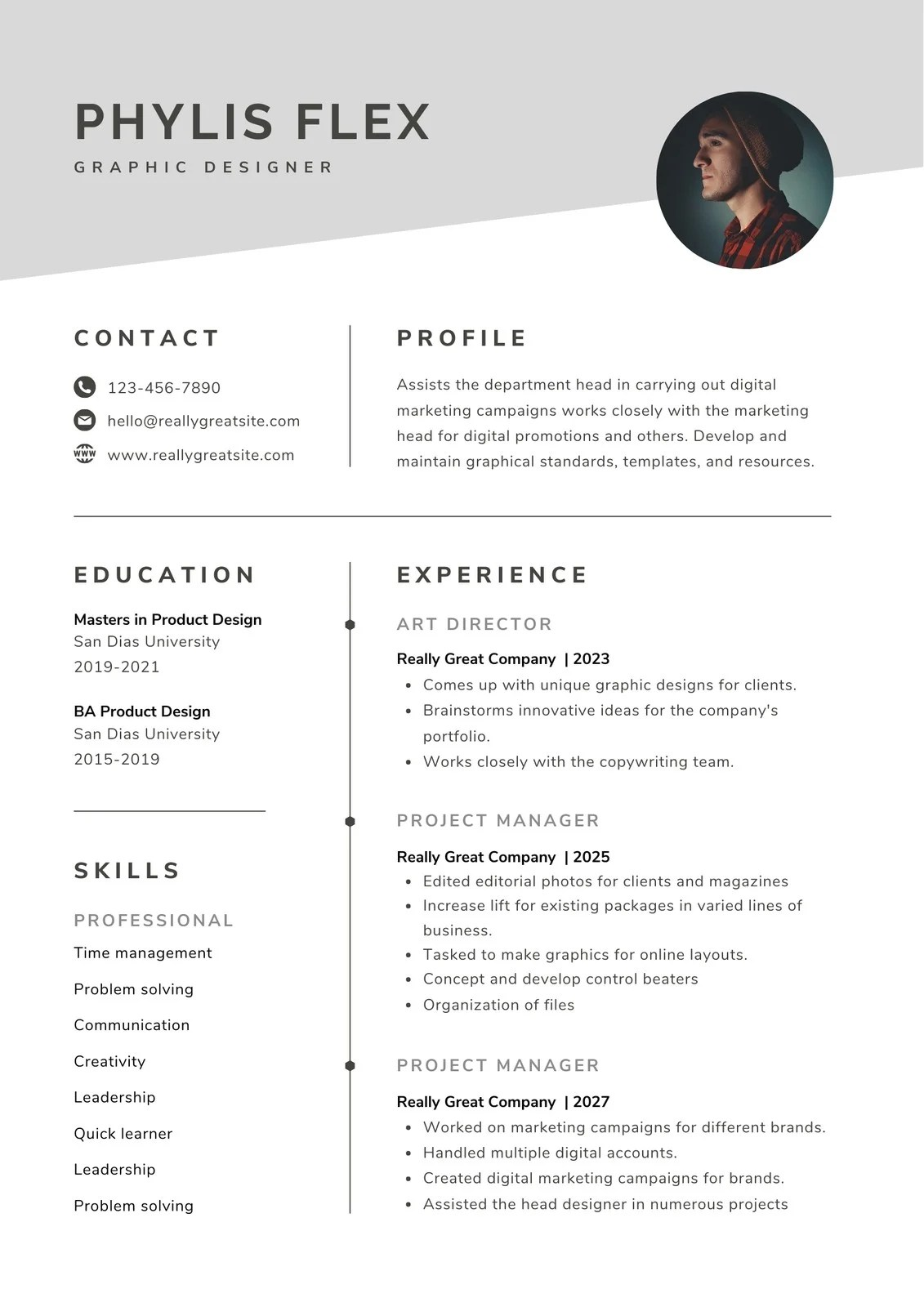But here's a notable exception. Free Professional Resume Templates To Customize Canva