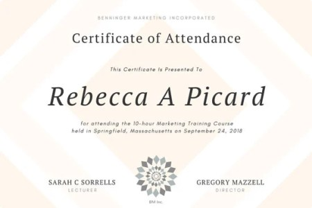 Free Resume Cover Letter » sample certificate training attendance ...
