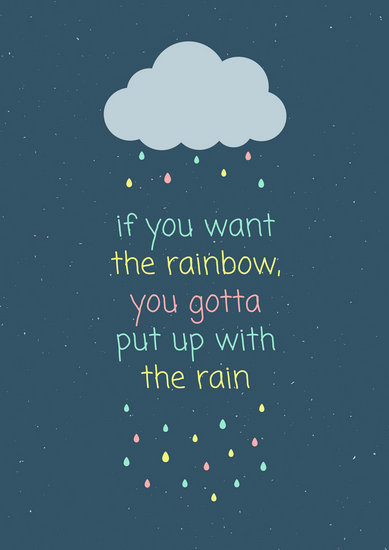 Customize 274  Quote Poster templates online   Canva Colorful Rain Quote Poster