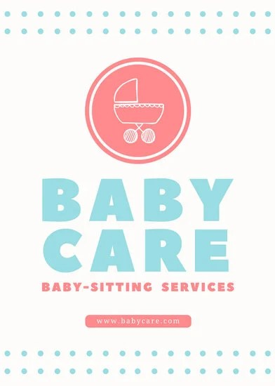 Baby In Carriage Babysitting Flyer Templates By Canva