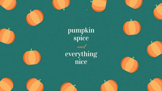 Orange Green Fall Autumn Pumpkin Minimal Quote Desktop