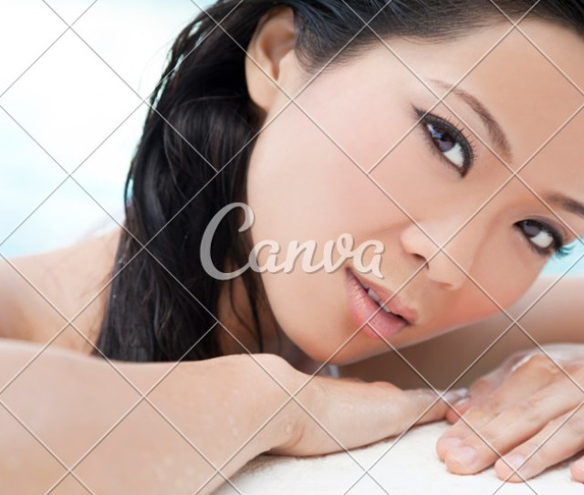 Beautiful Sexy Chinese Oriental Asian Woman In Swimming Pool