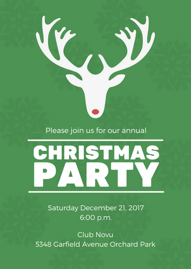 Christmas Party Invitation Portrait Templates By Canva