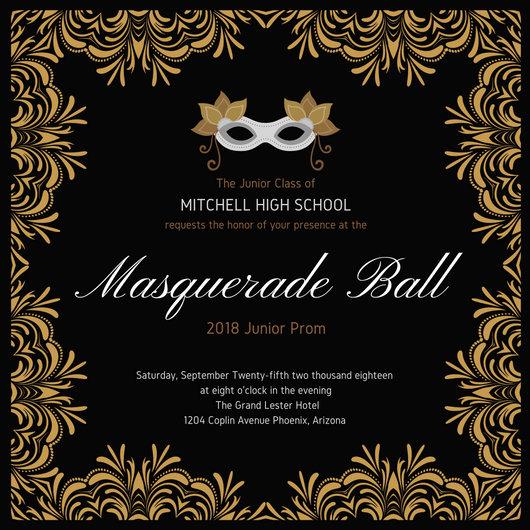 Customize 148 Masquerade Invitation Templates Online Canva
