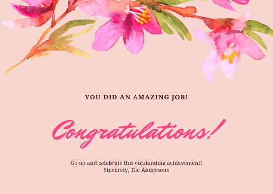 Customize 96 Congratulations Card Templates Online Canva