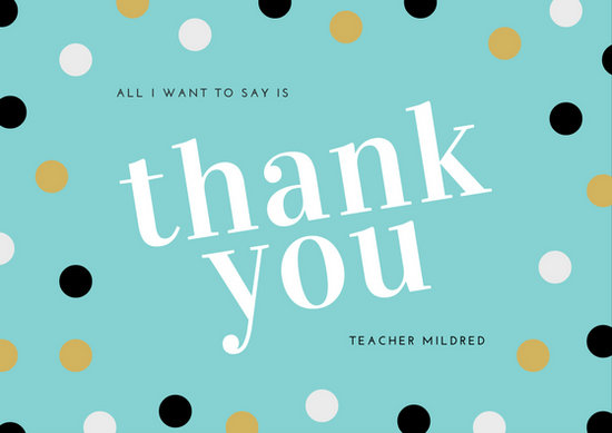 Thank You Teacher Card Templates Canva