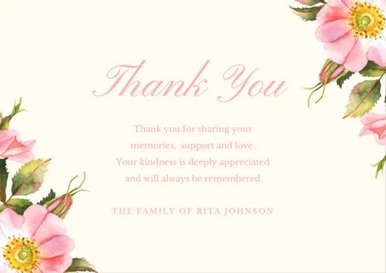 Thank You Card Templates Canva
