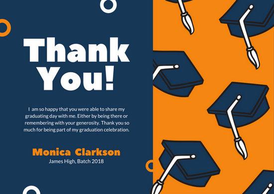 Customize 39 Graduation Thank You Card Templates Online