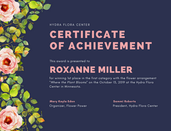 Customize 101 Achievement Certificate Templates Online