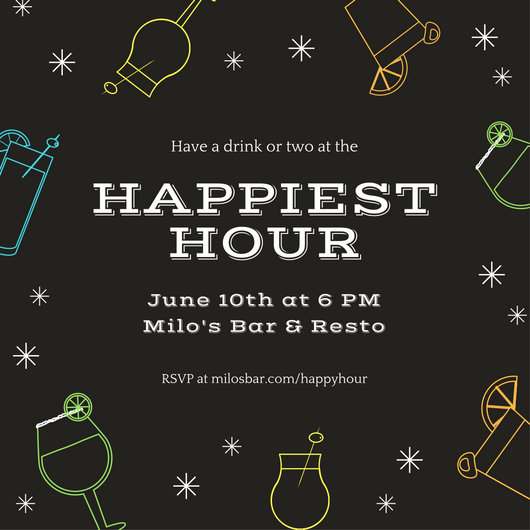 Customize 242 Happy Hour Invitation Templates Online Canva