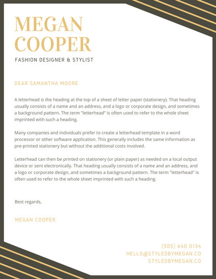 Personal Letterhead Template - FREE DOWNLOAD