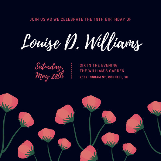 Customize 1023 18th Birthday Invitation Templates Online