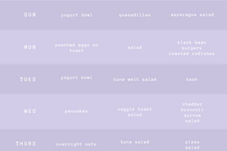 Customize 181  Weekly Schedule Planner templates online   Canva Pastel Purple Weekly Meal Planner Menu