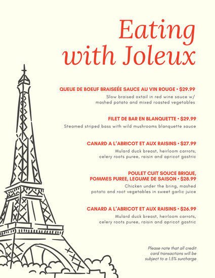 Customize 265 French Menu Templates Online Canva