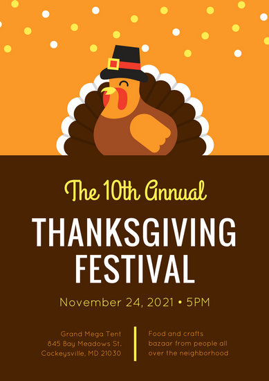 Customize 40 Thanksgiving Poster Templates Online Canva