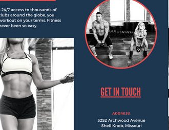 HD Decor Images » Dark Blue and Red Fitness Trifold Brochure   Templates by Canva Dark Blue and Red Fitness Trifold Brochure