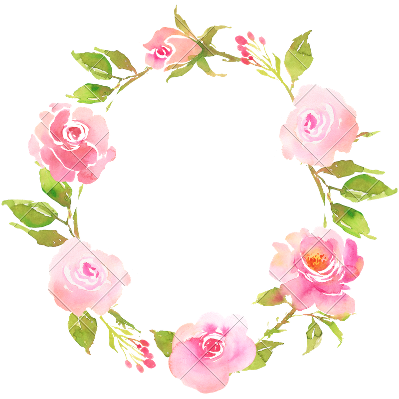 FLower Bohemian Wreath With Roses Decorative Boho