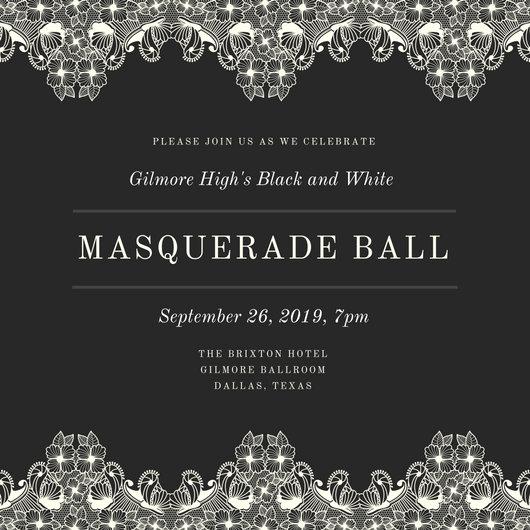 Masquerade Invitation Templates Canva