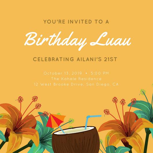 Customize 102 Luau Invitation Templates Online Canva