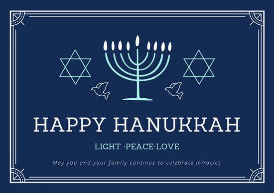 Customize 48 Hanukkah Card Templates Online Canva
