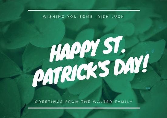 Customize 78 St Patricks Day Card Templates Online Canva