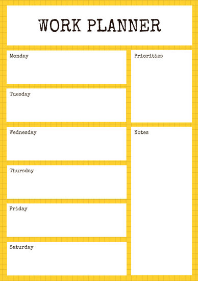 Customize 139 Work Schedule Planner Templates Online Canva