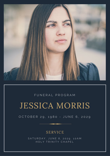 Funeral Funeral Templates Canva