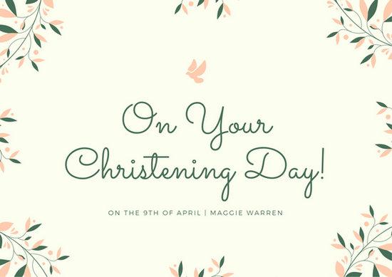 Customize 104 Christening Card Templates Online Canva