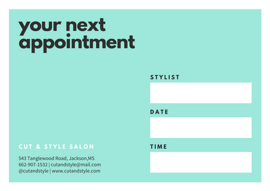 Customize 31 Appointment Card Templates Online Canva