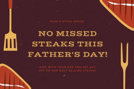 Customize 1 968  Certificate templates online   Canva Brown Steak Father s Day Gift Certificate