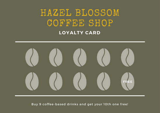 Brown Coffee Beans Loyalty Card Templates By Canva